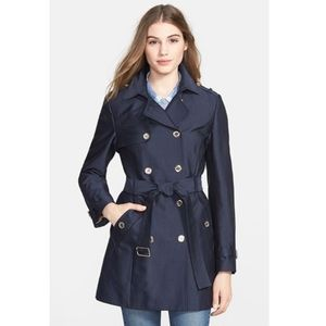 Calvin Klein Double Breasted Satin Trench Coat XS